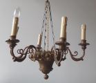 Biedermeierový dřevěný lustr s řetězem (2).JPG