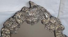 Stříbrné stolní zrcadlo - Pozdní Biedermeier, Vídeň 1853 (2).JPG