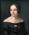 Portrét dámy s broží - Biedermeier 1840 - 1860 (3).JPG