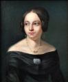Portrét dámy s broží - Biedermeier 1840 - 1860 (4).JPG