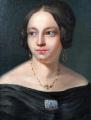 Portrét dámy s broží - Biedermeier 1840 - 1860 (5).JPG