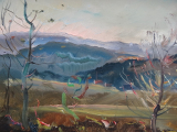 Jindřich Stehlík - Podzimní krajina se stromy (4).JPG
