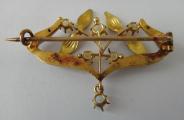 Zlatá secesní brož s opály (3).JPG