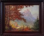 Hans Chrystoph - Podzimní krajina s hradem (1).JPG