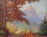 Hans Chrystoph - Podzimní krajina s hradem (2).JPG