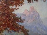Hans Chrystoph - Podzimní krajina s hradem (3).JPG