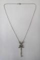 Stříbrozlatý náhrdelník s diamanty, briliantem a perličkou (1).JPG