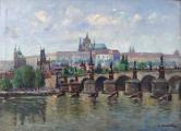 Josef Homolka - Karlův most a Hradčany (2).JPG