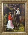 Jan Dědina - Zahradník a dívka s kyticí šeříku (1).JPG