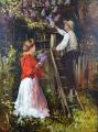Jan Dědina - Zahradník a dívka s kyticí šeříku (2).JPG