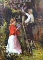 Jan Dědina - Zahradník a dívka s kyticí šeříku (3).JPG