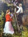 Jan Dědina - Zahradník a dívka s kyticí šeříku (4).JPG