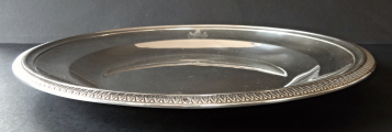 Kulatý stříbrný empírový talíř - Francie 1809 - 1819 (2).JPG