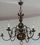 Flemish brass chandelier
