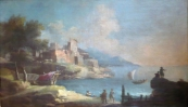 Jan Asselijn follower - Seaside baroque landscape