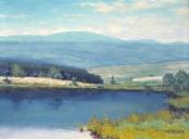 Antonín Šeffner - Podhorská krajina s rybníkem