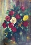 Kytice růží ve váze