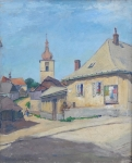 Alois Janecek - Pardubsky , Small town with the church
