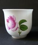 Šálek empírový s růží - Míšeň
