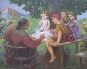 Emanuel Hosperger - Babička vypráví pohádku dětem