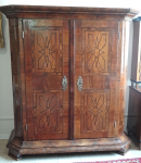 Baroque wardrobe with inlays
