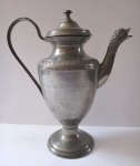 Empire style pewter pot with lid