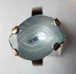 Zlatý prstýnek s blankytným kamínkem