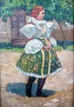 František Toman - Dívka v kroji