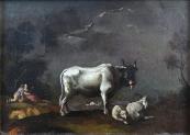 Langmayer - Pasáčci s býkem, kozlem a ovečkou