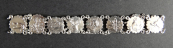 Bracelet with hunting motifs, silver