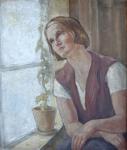 Franz Gruss - Portrét dívky u okna
