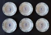 Šest talířků s chinoiserií - Klášterec, rok 1873