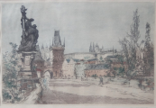 Bohumil Kozina (Klimes younger) - At the Charles Bridge