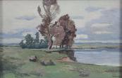František Kučera - Stromy u rybníka