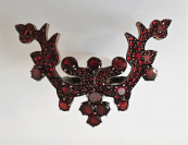 Big ring with Czech garnets (pyrope)