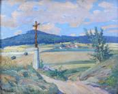 Fr. Částek - Krajina s cestou a božími mukami