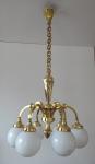 Art deco chandelier with white balls