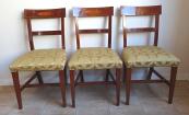 Three mahogany chairs with inlays