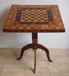 Richly inlaid chess table
