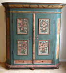 Painted wardrobe Cheb and Loket - dated 1765
