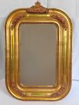 Menší oválné zlaté zrcadlo