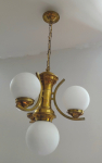 Brass chandelier with three arms