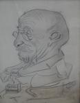 Karel Kotrba - Karikatura muže s tabákem