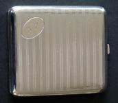 Cigarette case with a monogram - Alpacca
