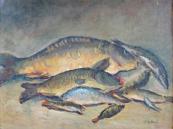 Jožka Ryšavá - Kačírková, Zátiší s rybami