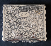 Silver square powder box