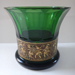 Bowl of emerald glass - Moser