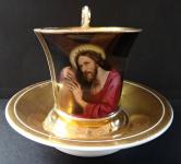 Koflík s malovanou miniaturou Krista