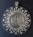 Stříbrný medailon ke křtu - Vídeň 1846