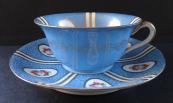 Modrý šálek s podšálkem - Paepkke & Schäfer, Haida